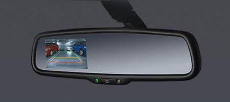 Camera lùi được tích hợp hiển thị trên gương