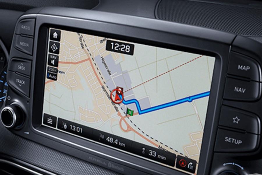 Màn hình cảm ứng 8 inch inch tích hợp hệ thống định vị vệ tinh với công nghệ hiển thị IPS